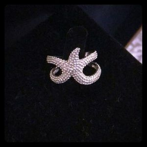 Silver Starfish Adjustable Ring